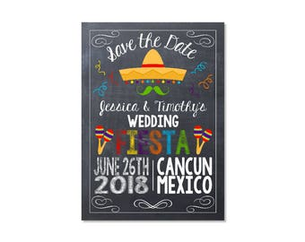 Fiesta Wedding Save the Date