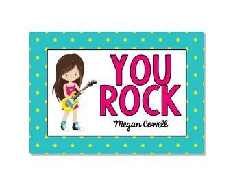 Rock Star Valentine Classroom Card