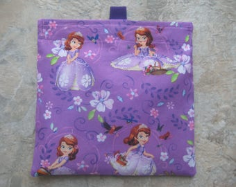 Sophia The First Reusable Sandwich Bag, Reusable Snack Bag, Washable Treat Bag  with easy open tabs