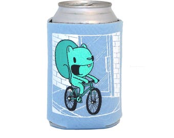 bike can coolie, bicycle cozy, beer cozy, gift for bicyclists, gifts under 10