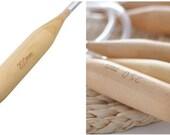 "Big Circular Wood Bamboo Knitting Needles 20mm- 35US or 25mm- 50US Plastic Tube 20"" Cable"