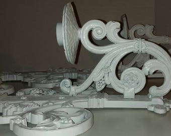 Vintage Hollywood Regency Syroco White Painted Candleholder Candalabra Display Wall Hanging Sculpture Sconces