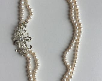 Fresh water pearl strand necklace one of a kind clearanced as pictured bridal necklace