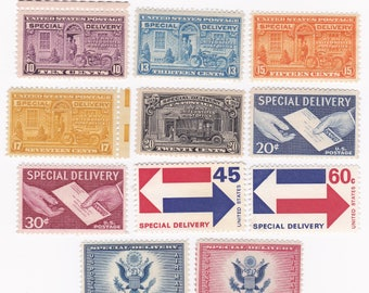 11 Mint US Special Delivery US Postage Stamps