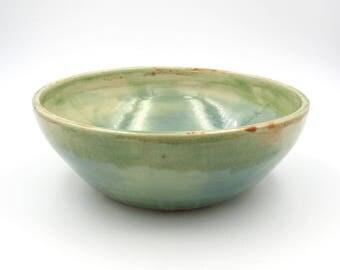 Pottery Cereal Bowl. Blue Pottery. Serving Bowl. Handmade Pottery. Modern Ceramics