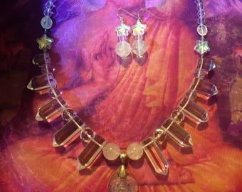 Kwan Yin Crystal Necklace