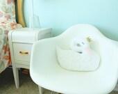 Swan decor, swan nursery decor, girls room decor, princess decor, swan pillow, kids room decor, baby shower gift, swan bedding, girl gift
