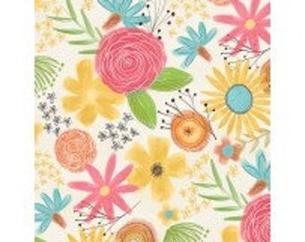 Fabric by the Yard - Believe You Can Flowers by Katie Doucette