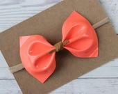 Patent Melon Faux Leather {MILLIE} Bow - Spring + Summer 2017