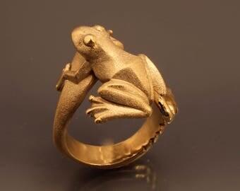 frog ring  bronze