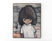 Vintage Framed Print of a Girl by Jaklien Moerman