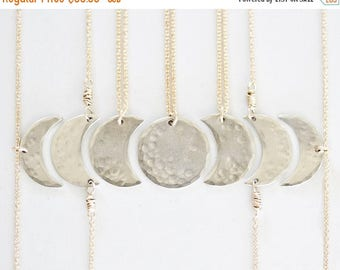 BACK 2 SCHOOL SALE Bridesmaid Gift / Best Friend Necklace / Bridal Party / Moon Jewelry / Girl Squad / Mother Daughter Jewelry / Sister Neck