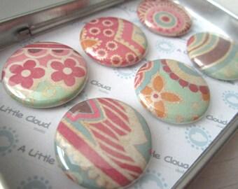 Coral Flower Magnet Set Gift Set, Teacher Gift, Gift for Mom, Stocking Stuffer