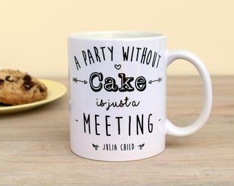 Julia Child Mug Ceramic Coffee Cup Funny Mug Gift for Her