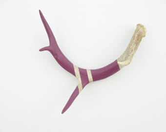 Painted Antler - SMALL - Mulberry Monochromatic - Taxidermy and Curiosities