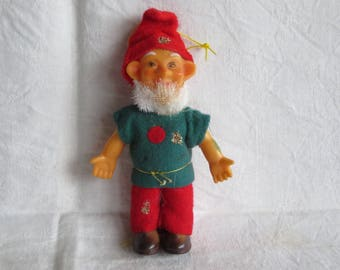 Vintage Elf Doll Red Green Clothes Japan