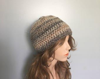 Crochet Beanie Hat - CARAMEL