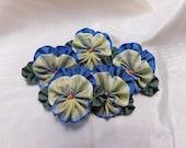 Pile Of Pansies With Leaves Ribbon Flowers Ribbonwork