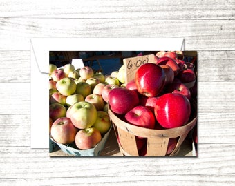 Farm stand Note Card | Bushel of apples | Greeting Card | Photo notecard | Blank Note Card | Blank Greeting Card