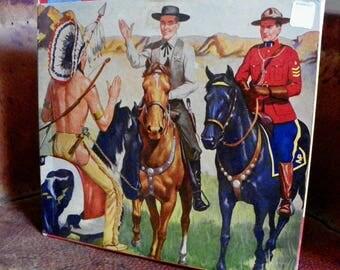 Hartland MINT Wyatt Earp 1957 cowboy set new condition never used all parts still in original paper