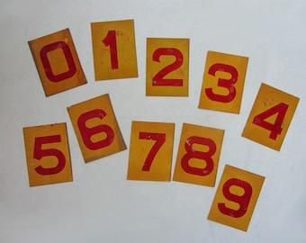 Vintage Series Metal Numbers