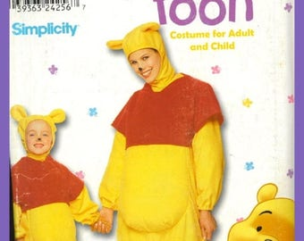 Uncut Simplicity Disney Winnie the Pooh Bear Costume Pattern Most All sizes