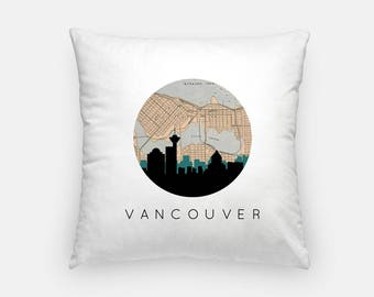 Toronto pillow Toronto Skyline Map Decor Canada pillow