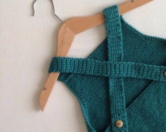romper hand knit / BIRBURI simple collection