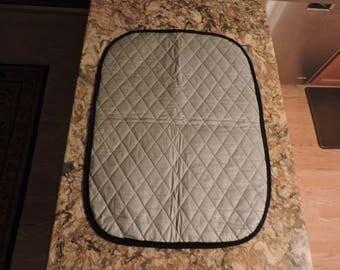 Ironing Pad Mat with Black Trim-Free Shipping
