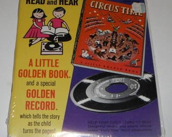 Read and Hear A Little Golden Book and Golden Record Circus Time Unopened  this has a 45RPM Record Vintage