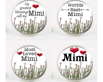 Snap Charms, Mimi, Grandma, Grandmother,  Interchangeable Jewelry, 18mm Charm, Snaps, Snap Button Charm, Sayings, Quotes, Snap In Charm #3