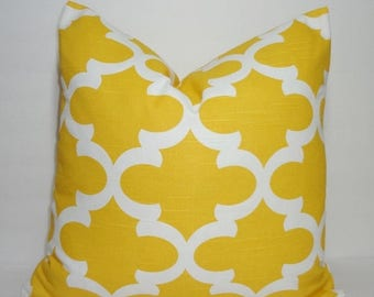 FALL is COMING SALE Corn Yellow Moroccan Geometric Print Pillow Covers Decorative Throw Pillow Covers All Sizes