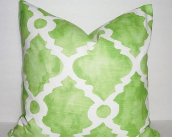 SPRING FORWARD SALE Decorative Pillow Cover Kiwi Green Geometric Pillow Cover Throw Pillow Cover Choose Size