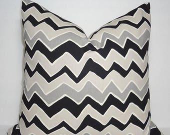 SPRING FORWARD SALE Black & Grey Zig Zag Chevron Pillow Covers Throw Pillows Decorative All Sizes