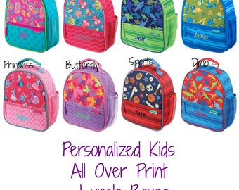 Personalized Kids Lunch box / Kids lunch bag / Monogrammed lunch box / All over Print