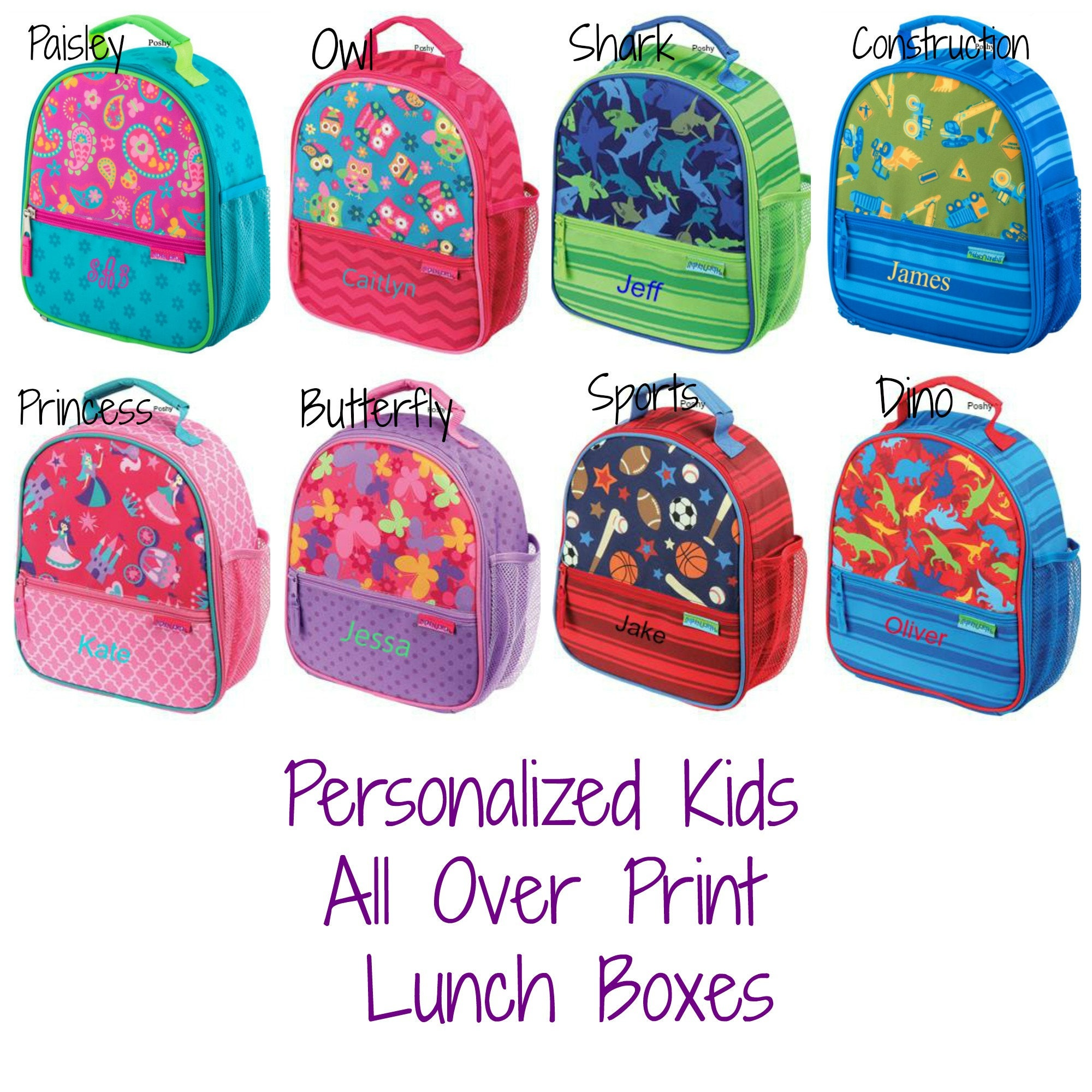 Shop back to school accessories including personalized backpacks, monogrammed bookbags, monogram lunch bags and more. Custom embroidery included in your choice of thread colors & fonts.