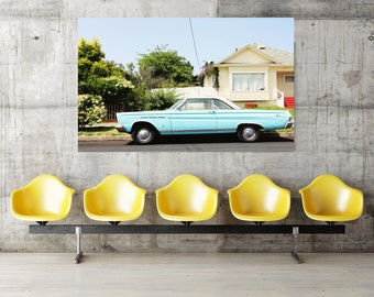 retro car california photography // mid century modern car // wall art // art canvas - Caliente, original photograph on canvas