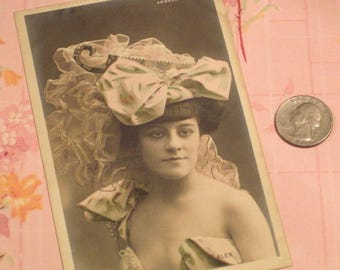 Antique Postcard French Actress