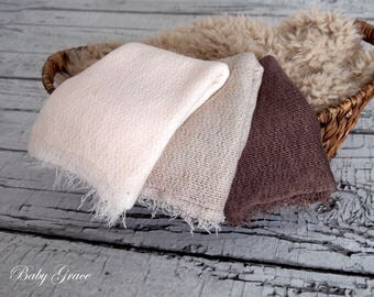 Newborn Wrap, Boho Newborn Stretch Wrap, Newborn Photo Prop, Layering Fabric, Photography Props, Wrap Natural Colors, Stretch Knit Fabric