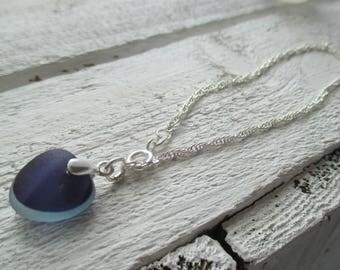 Sea Glass Sterling Silver Bracelet