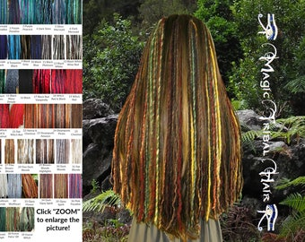 Dreadlocks CLIP-IN DREADS Custom Color dread falls Tribal Fusion dreads extensions Belly Dance hair piece Boho accessory Gipsy hair jewelry