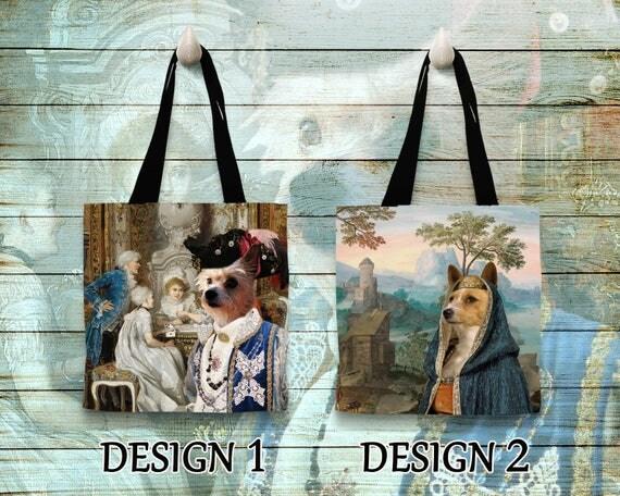 Portuguese Podengo Tote Bag. Portuguese Podengo Bag. Portuguese Podengo Portrait. Personalized Dog Tote Bag. Custom Dog Portrait
