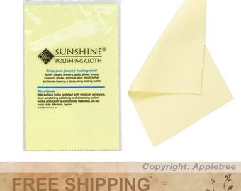 5 Bags Sunshine Polishing Cloths for Sterling Silver, Gold, Brass and Copper Jewelry