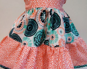 Blue and Pink, Twirly Dress for your 18 Inch Doll A