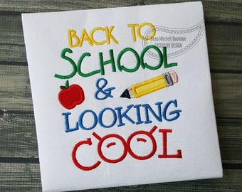 Back to School - School Shirt - Appliqued and Personalized