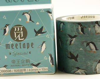 Penguin - Japanese Washi Masking Tape - 40mm wide - 11 yard