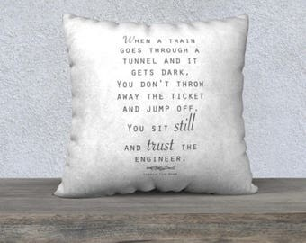 Inspirational Quotes Pillows Sayings | Throw Pillow Covers Words | Pillow Covers 18x18 | White Gray Pillow Covers 22x22 | Corrie Ten Boom