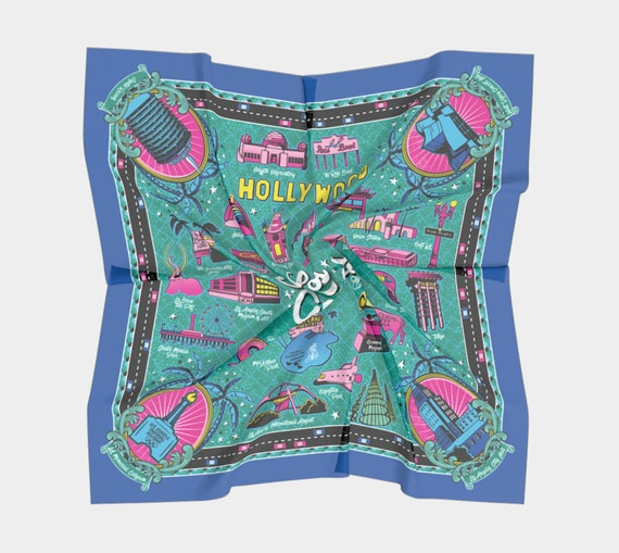 Welcome to Los Angeles! Traffic Border Souvenir Scarf