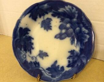 """Antique Flow Blue 5 1/2"""" Berry Bowl"""