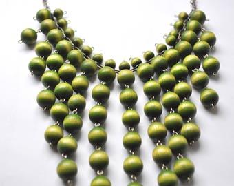 Aarikka bib necklace large green kinetic Finland
